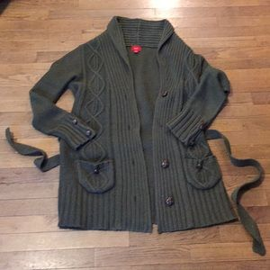 Dark Olive Green Sweater Jacket